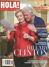 Hola Spanish magazine Hillary and Bill Clinton William Levy Lin Manuel Miranda