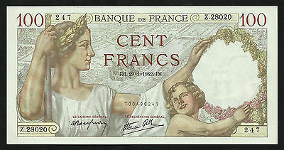 France : 100 Francs Sully (29-1-1942) UNC