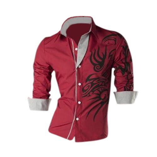 Cooles Maenner Europaeisches Drache Entwurf Hemd duennes passendes attraktive P1
