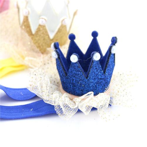 Baby Girl Shiny Princess Tiara Hair Band Headband Kids Elastic Crown Headwear !