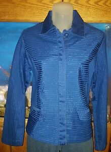 Chicos New Beautiful Sapphire Tucked Jacket Size 0 (Chicos)