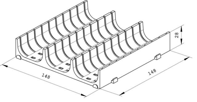Einteilungsmaterial Muldenteile weiss Kompaktmulden Schubladeneinsatz