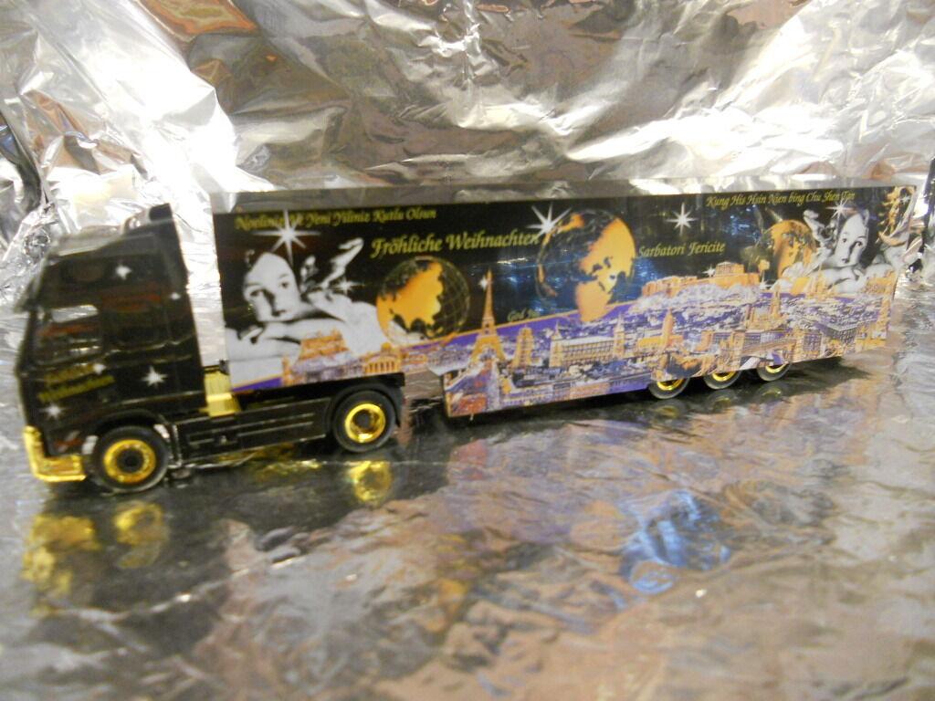 Herpa 149501 DAF CF Box Semitrailer  Weihnachten 2003  1 87 Scale
