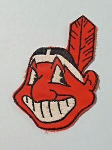 Vintage Cleveland Indians Chief Wahoo Old Style Major League Baseball Patch 7944