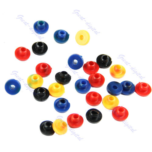 Rubber Colorful Grommets Nipples For Tattoo Machine Needles Supplies 200 PCS New