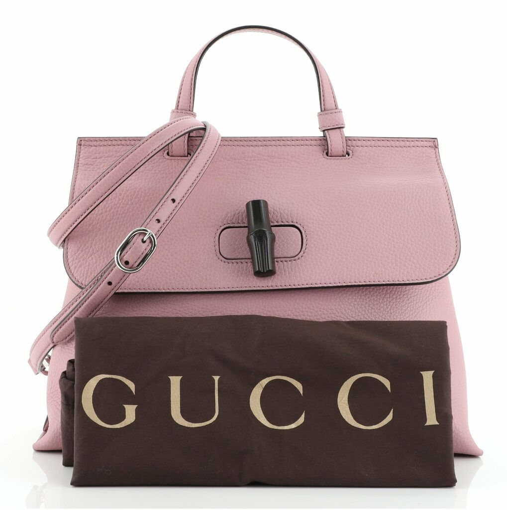 Gucci Bamboo Daily Top Handle Bag Leather Medium  | eBay