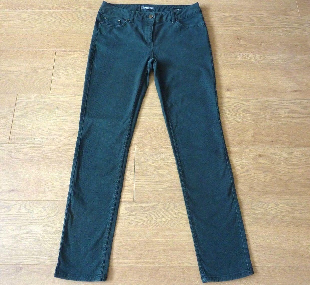 Laura Ashley Ladies Slim Fit Croc Pattern Green Jeans Size US 8