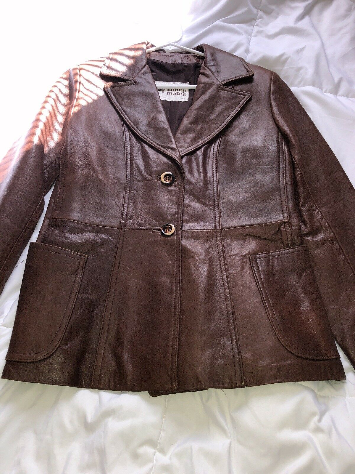 Sheep Mates Paris New York Women's Vintage Vintage Vintage darkbrown size 16 100%Leather 870063