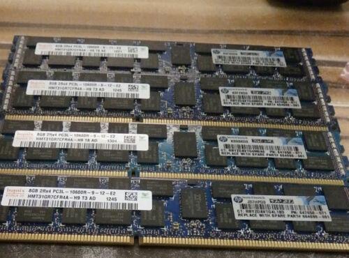 1x8GB 647650-071 HP 8GB PC3L-10600 DDR3-1333 Memory 647897-B21 664690-001