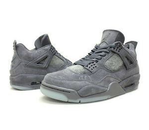 Image is loading Nike-Mens-Air-Jordan-4-KAWS-Cool-Grey-