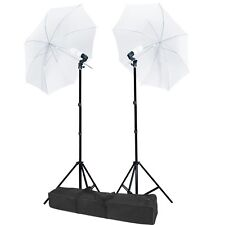 "2 x 33"" White Umbrella Continuous Lighting Photography Light Stand Kit Carr"