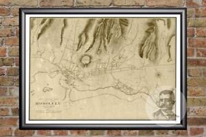 Vintage-Honolulu-HI-Map-1887-Historic-Hawaii-Art-Old-Victorian-Industrial