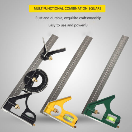 300mm Stainless Steel Adjustable Combination Square Angle Ruler Measuring Tools