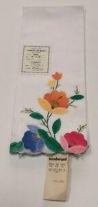 Vintage-White-Cotton-Floral-Tea-Towel