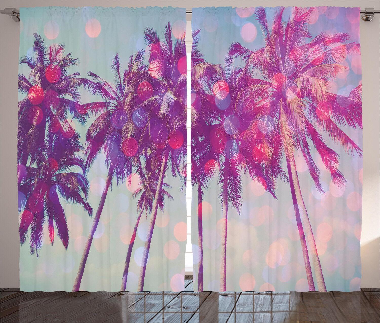 Grunge Design Curtains 2 Panel Set Decoration 5 5 5 Größes Window Drapes 6870b2