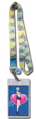 SAILOR URANUS LANYARD Licensed by GE Anime 37701 Keychain Badge SAILOR MOON