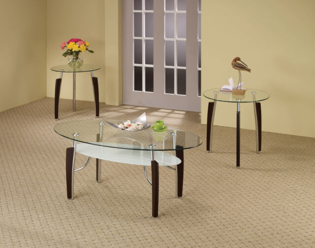 Coaster 3 Piece Contemporary Occasional Table Sets In Cappuccino Finish 701558 For Sale Online Ebay