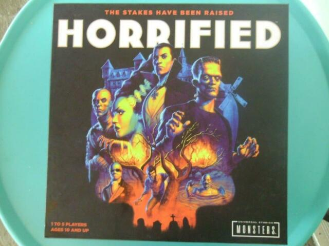 UNIVERSAL MONSTERS HORRIFIED BOARD GAME NEW RAVENSBURGER 1-5 players Ages 10+