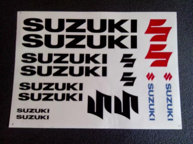 Suzuki Aufkleber Schwarz Stickers Black