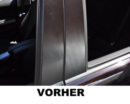 6x barras de puerta moldura ornamentada set B pilar revestimiento lámina carbon negro estructura
