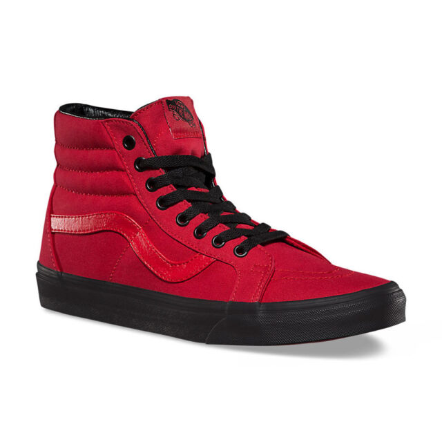 all red vans sk8 hi