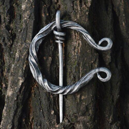 1PC Fermoir Boucle Pin Viking Broche Manteau broches Rétro MEDIEVAL Norse Bijoux