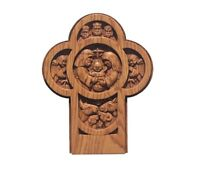 Nativity Cross Hand Carved Wall Plaque 9-1/4 X 7-3/8 Red Oak, Cherry