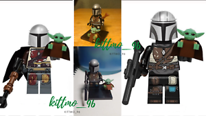 2-SET-The-Mandalorian-And-Baby-Yoda-Minifigure-Star-War-Lego-MOC-Hot-2020