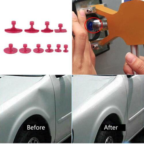 10pcs//set Car Paintless Dent Puller Lifter Body Glue Gun Repair Hail Removal Tab