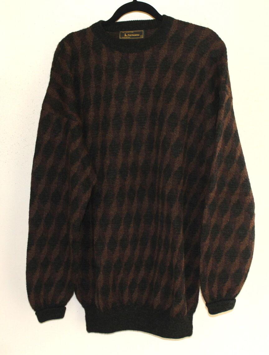 Peru Unlimited  100% Alpaca Wool Art-Wear Heavy-Weight Plush Sweater Sz XL