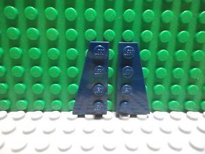 Lego 1 pair of Dark Blue 4x2 wedge plate wings ship