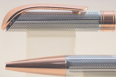 719 Chiselled Gunmetal Grey Rollerball Pen with Rose Gold Trim Jinhao No