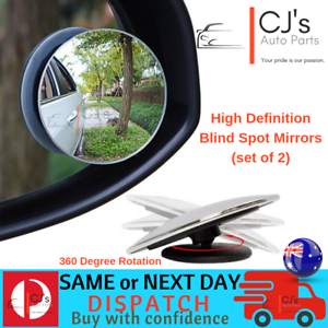 Blind-Spot-Mirror-x-2-Rimless-HD-Glass-Wide-Angle-360-Convex-Mirrors-Rear-View