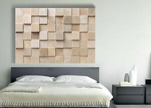 xxl leinwand bild holz wand natur 145x100x5 lounge neu wandbild beige braun ikea ebay. Black Bedroom Furniture Sets. Home Design Ideas