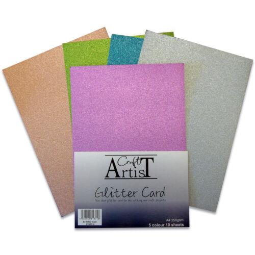 Craft Artist Glitter Card No Shed A4 250gsm John Next Door 10 Sheet