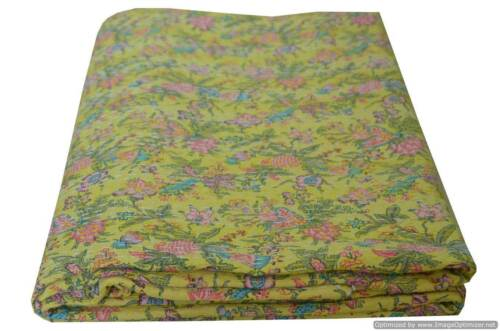 ETHNIC INDIAN KANTHA QUILT QUEEN BEDSPREAD BLANKET THROW COVERLET HOME DECOR ART