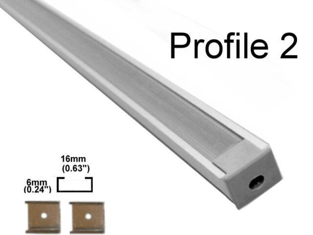 Aluminum LED Strip Fixture Channel 1 Meter Under Counter Cabinet Light Kit