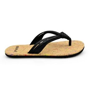 36a0cdc3198f10 Animal® Summer Women s Knotted Black Flip Flops Sandals Brand New on ...