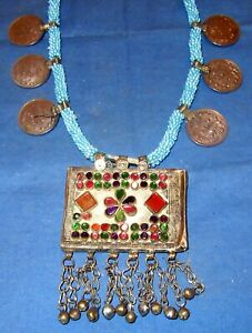 Necklace-Medallion-Coin-Afghan-Tribal-Kuchi-Alpaca-Silver-22-034
