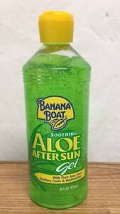 New Banana Boat Soothing Aloe After Sun Gel With Pure Aloe Vera-16 Oz After Sun Skin Care