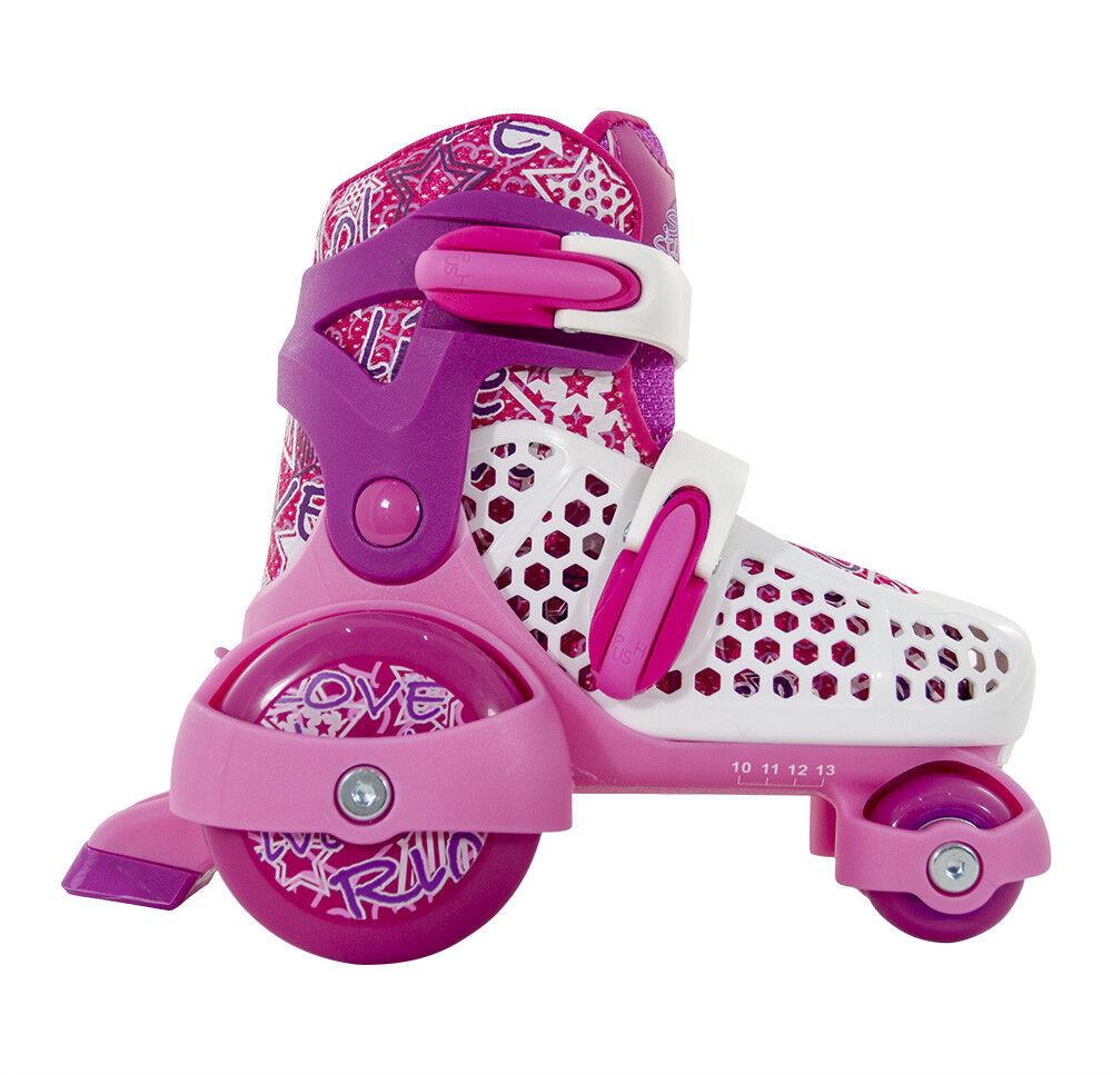 SFR - Stopper verstellbar Kinder Skate - Rosa Junior Quad Rollschuhe