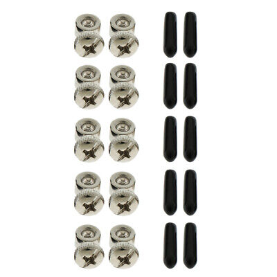5 Sets Speed Jump Rope Cable Adjuster Adapter Screws Collar and End Caps