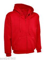 Ladies Loose Fit Hoodie Zip-Up Jacket Unisex Plus Size UK 10 to 28