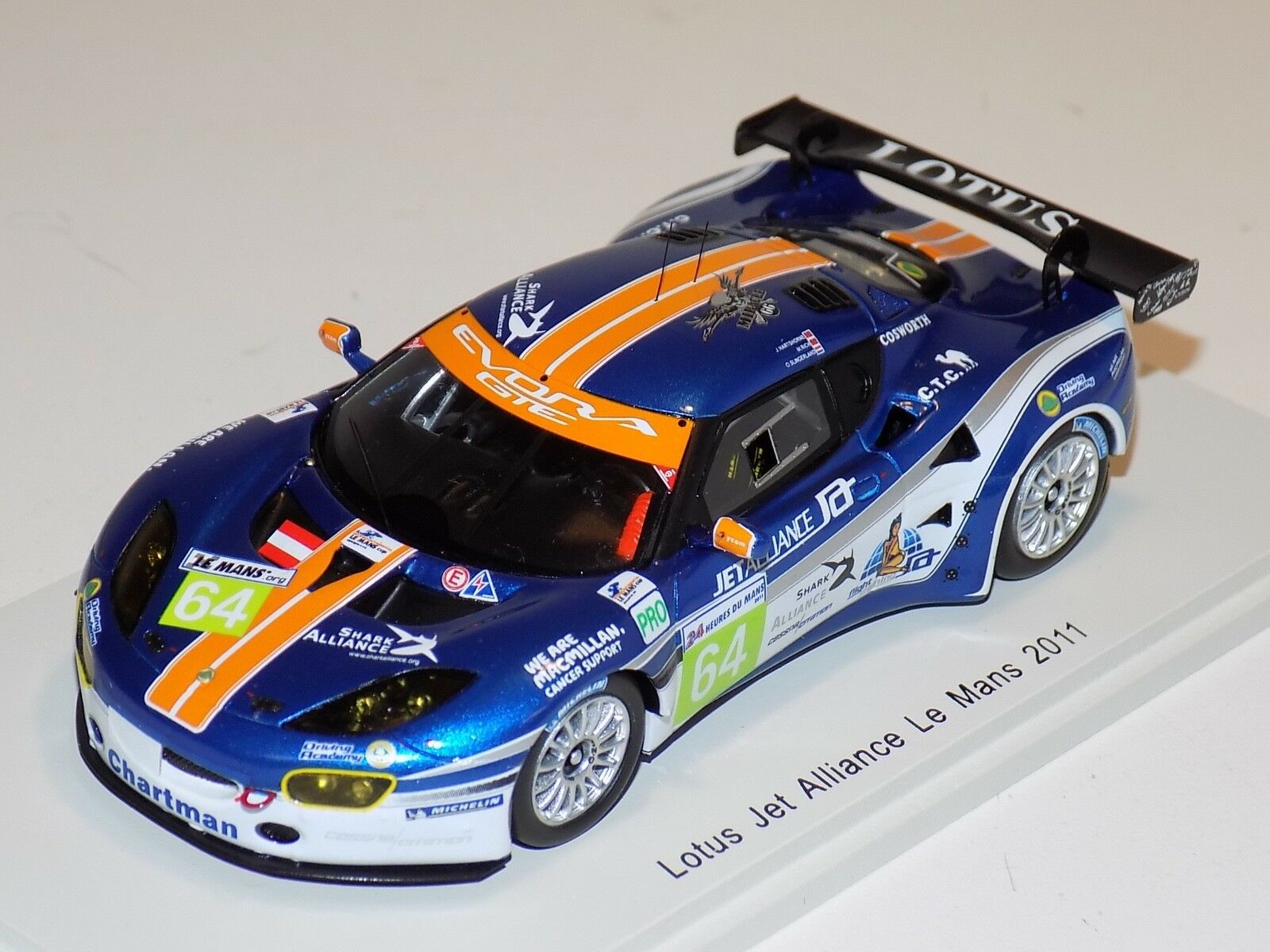 1/43 Spark Lotus Jet Alliance Car   64 from 2011 24 H of LeMans  S2208