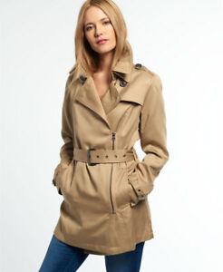 Trench-coat-drape-Pour-femme-Stone