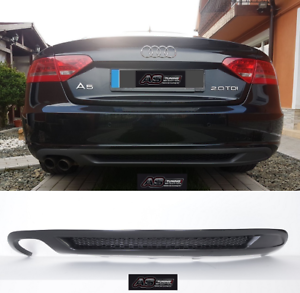 Heckdiffusor S-Line Look AUDI A5 8T 5-Türer Sportback Kleber Gitter Diffusor