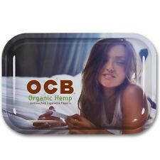 """Same Day Shipping OCB Small /""""RAINBOW/"""" Metal Rolling Tray New FLAGSHIP SERIES"""