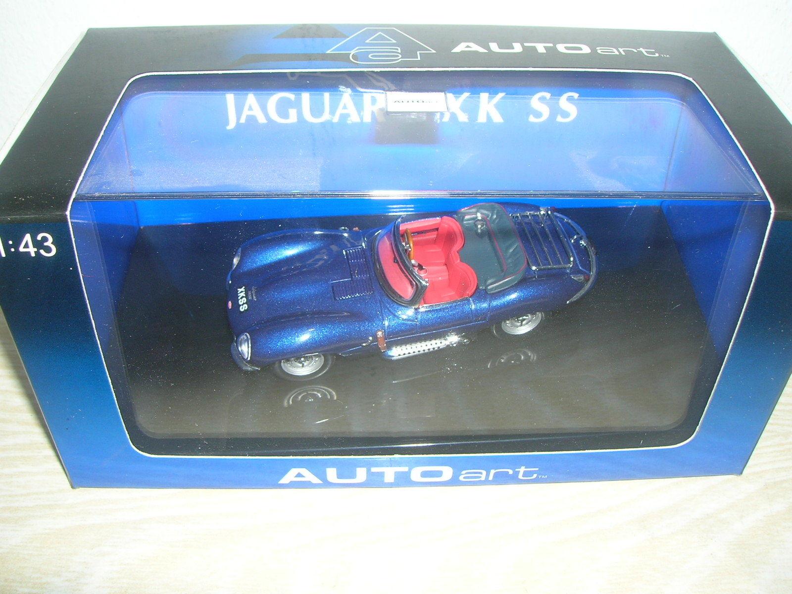 AutoArt Modèle 53751-JAGUAR XK SS en  Bleu - 1 43 dans PC-Box  magasin de gros