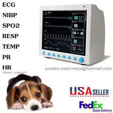 Cms8000 Vet Veterinary Patient Monitorecgnibpspo2resptemppr Usa Seller Hot