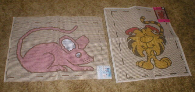 VINTAGE SPINNERIN PINKY THE MOUSE AND TIGER RAG CANVAS ONLY